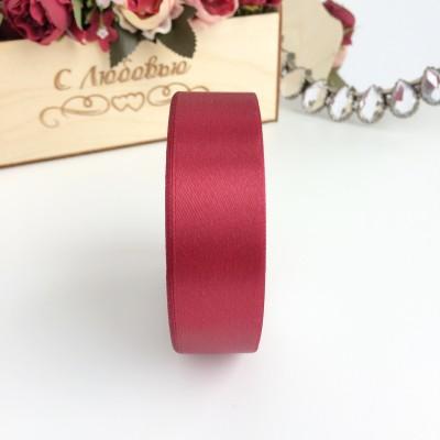 Лента атласная 25 мм, бордовый