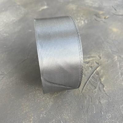 Лента атласная 40 мм, темно-серый (180)