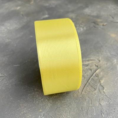 Лента атласная 40 мм, желтый (15)