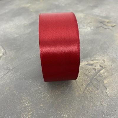 Лента атласная 40 мм, бордовый (33)