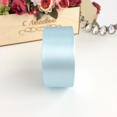Лента атласная 40 мм, голубой