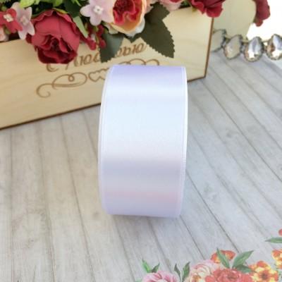 Лента атласная 40 мм, белый
