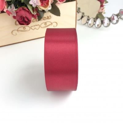 Лента атласная 40 мм, бордовый