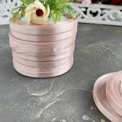 Лента атласная 6 мм, пепельно-розовый (041)