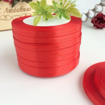 Лента атласная 6 мм, красный