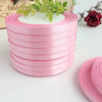 Лента атласная 6 мм, розовый