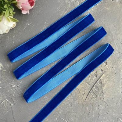 Лента бархатная 15 мм, синий