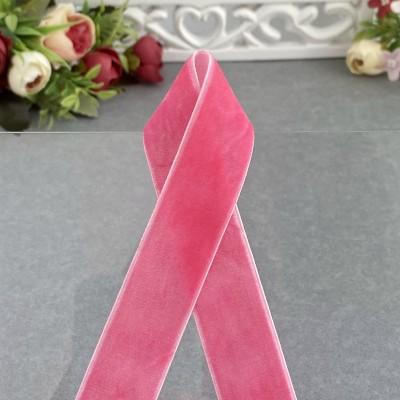 Лента бархатная 25 мм, ярко-розовый (41)