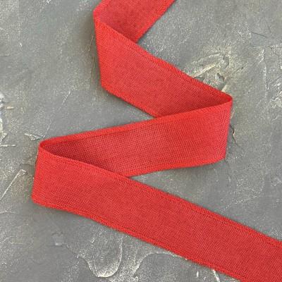 Лента декоративная холщевая, красный