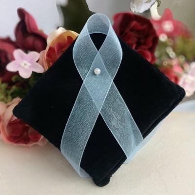 Лента из органзы 15 мм голубой
