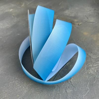 """Лента репсовая 25 мм """"Градиент"""", голубой"""