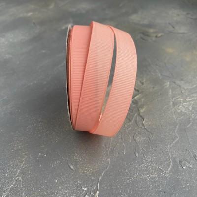 Лента репсовая 15 мм, темно-персиковый