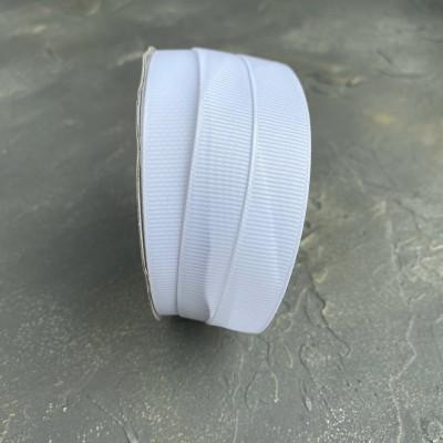 Лента репсовая 15 мм,белый