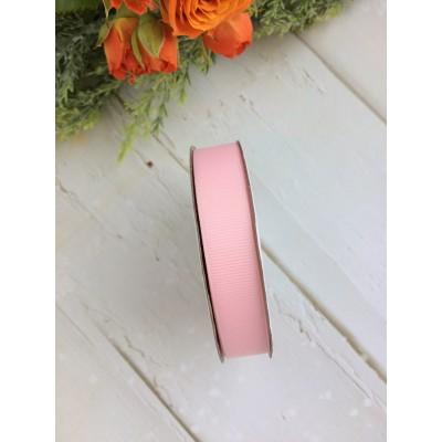 Лента репсовая 15 мм, нежно-розовая
