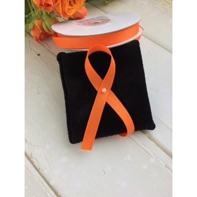 Лента репсовая 10 мм, оранжевый