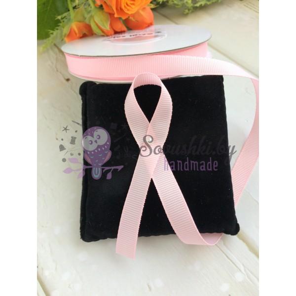 Лента репсовая 10 мм, бледно-розовый