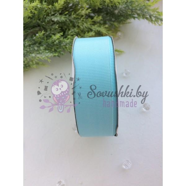 Лента репсовая 25 мм, голубой