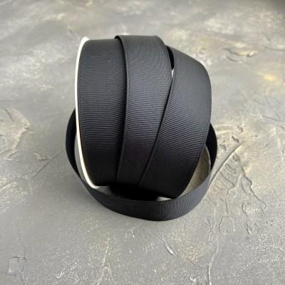 Лента репсовая 25 мм, черный