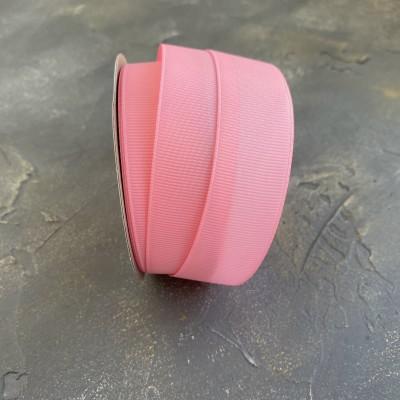 Лента репсовая 25 мм, розовый (253)