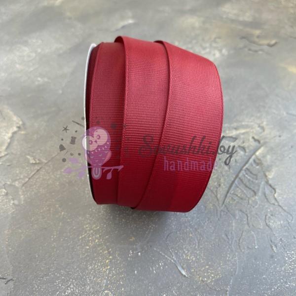 Лента репсовая 25 мм, бордовый (37)