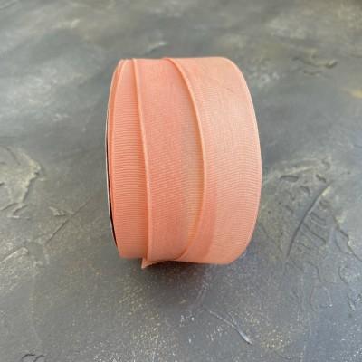 Лента репсовая 25 мм, темно-персиковый (215)