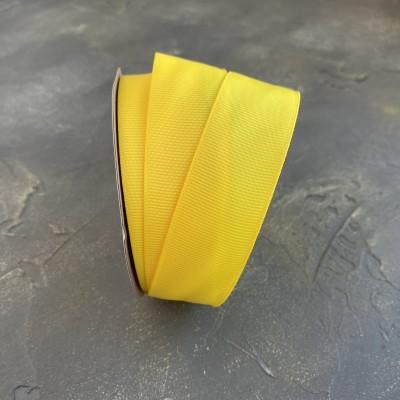 Лента репсовая 25 мм, желтый (132)