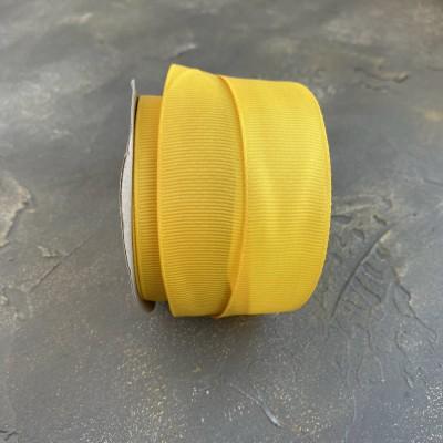 Лента репсовая 25 мм, темно-желтый (216)