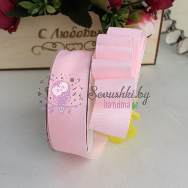 Лента репсовая 25 мм, светло-розовый (66)