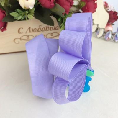 Лента репсовая 25 мм, фиолетовый