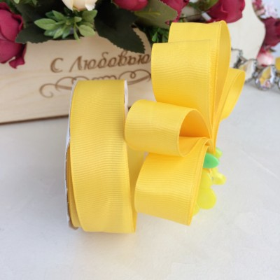 Лента репсовая 25 мм, желтый
