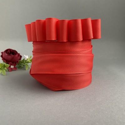 Лента репсовая 25 мм, красный