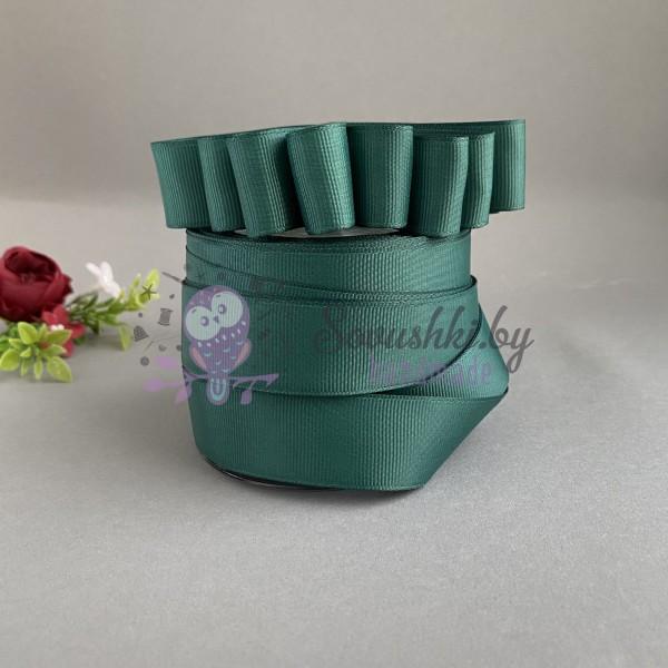 Лента репсовая 25 мм, темно-зеленый №2