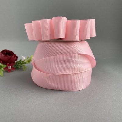 Лента репсовая 25 мм, розовый