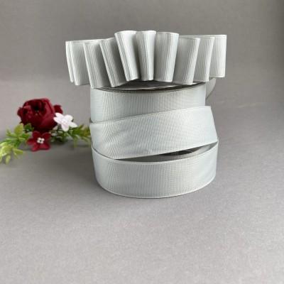 Лента репсовая 25 мм, серый