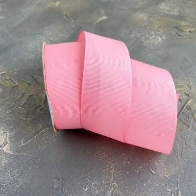 Лента репсовая 4 см, розовый (253)
