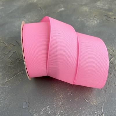 Лента репсовая 4 см, розовый (255)