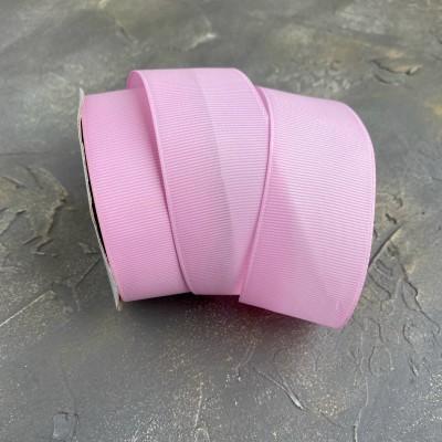 Лента репсовая 4 см, розовый (93)