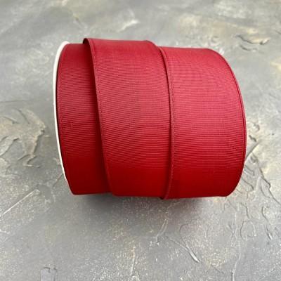 Лента репсовая 4 см, бордовый (37)
