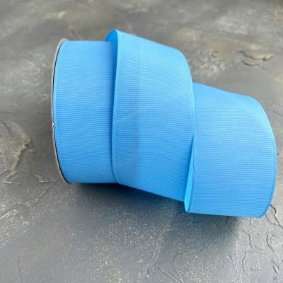 Лента репсовая 4 см, голубой (97)