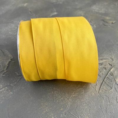 Лента репсовая 4 см, темно-желтый (216)