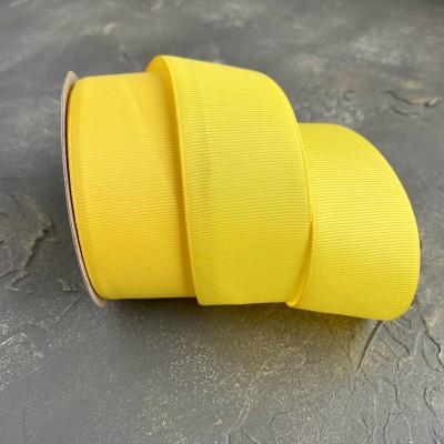Лента репсовая 4 см, желтый (132)