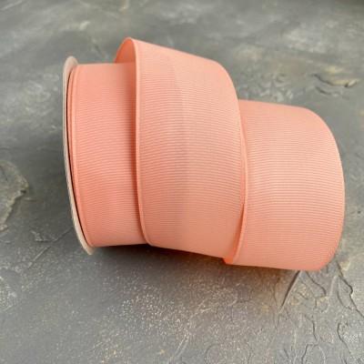 Лента репсовая 4 см, темно-персиковый (215)