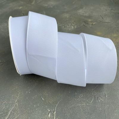 Лента репсовая 4 см, белый