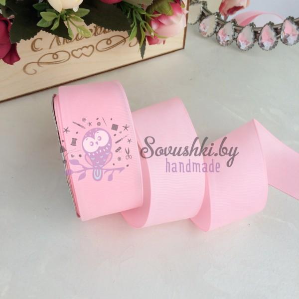 Лента репсовая 4 см, розовый (04)