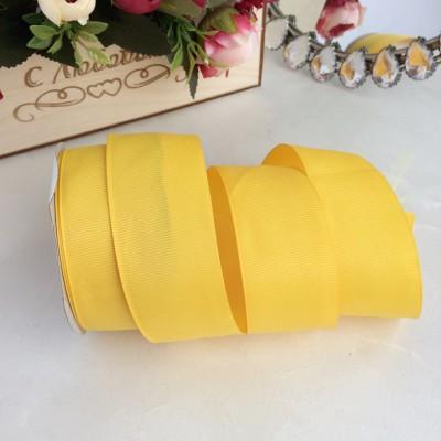 Лента репсовая 4 см, желтый