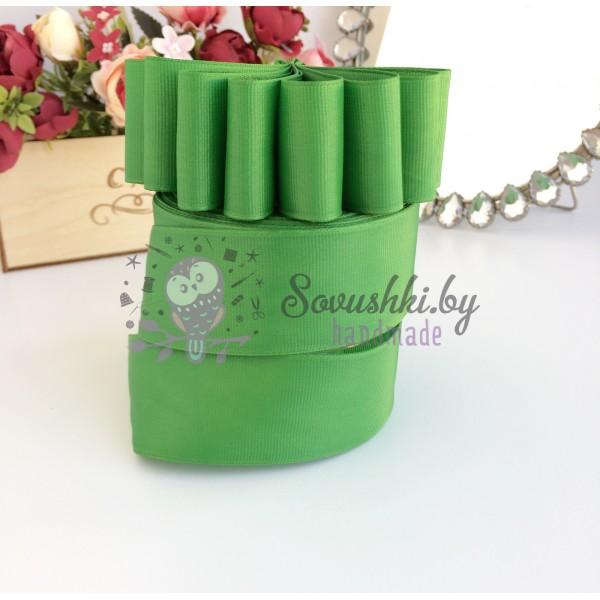 Лента репсовая 4 см, светло-зеленый