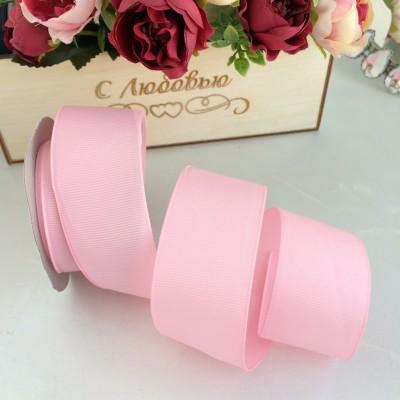 Лента репсовая 4 см, розовый