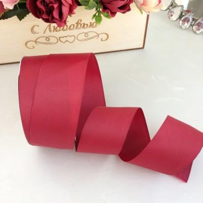 Лента репсовая 4 см, бордовый