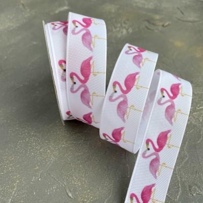 """Репсовая лента 25 мм """"Фламинго"""" (1)"""