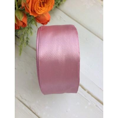 Лента атласная 38 мм, розовый